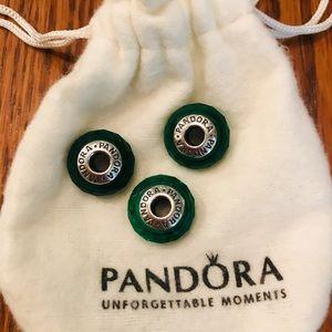 💚 Gorgeous Pandora Green Murano Glass Beads